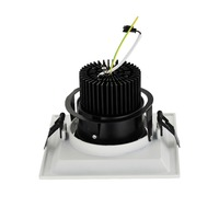 Mini single led lights high power no flicker 25w square led grille panel light fixture