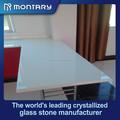 Branco comercial cozinha bancada de vidro