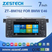 Zestech factory wholesale car dvd gps for BMW E46 touch screen 1 din car dvd gps media player DVB-T ATSC RDS Video BT am/fm USB