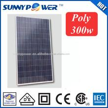 sunny energy 300watt poly solar panel for solar energy system donguan factory production line solar module