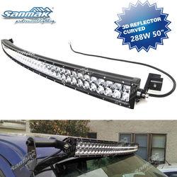 50 inch 288W 4x4 Cree Led Car Light, Curved Led Light bar Off road,auto led light arch bent