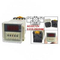 DH48S-2ZH DPDT 8P 0.01S-99H99M Timer Delay DIN Rail Time Relay W Socket
