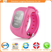 2015 hot selling GPS Tracker Smart Kid Wrist Watch Anti-lost Kid Watch SOS key for Android/iOS