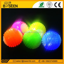 Waterproof rubber dog toy led ball