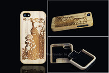 Laser engraving Solid 2 in 1 pure wooden case for iphone 5s