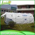 Lona branca barraca de Camping de luxo 5 grande família para 12 pessoas barraca de acampamento