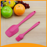 food grade kitchen silicone spatula set /kitchen ladle/ skimmer/ brush and scoop