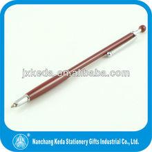 2014 dark red thin new design lady ball pen
