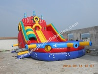 Durable commercial water slide/Inflatable water park/Water slide with pool