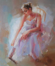 2015 New products ballet dancer oil painting