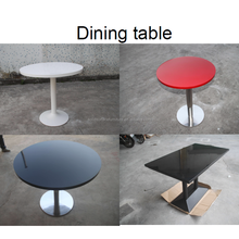 Modern artificial stone high glossy commercial round marble top dining table