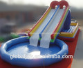 Tipo slide slide inflável gigante para piscina/usado slide piscina/piscina escorrega para venda quente