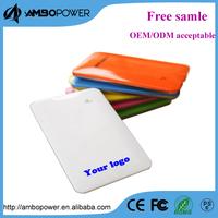 4000mah ultra thin oem power bank battery