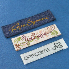 clothes tags woven label fabric