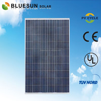 BLUESUN EU stock newest design tuv ce iso certified poly 250w sunpower solar pv module