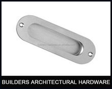 Stainless steel square flush pull for furniture