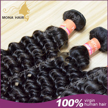 Fast shipping mona hair virgin hair ship by fedex/DHL peruvian virgin hair