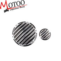 Motoo - 2015 CNC Designe motorcycle black with chrome engine cover Derby&Timing Timer Cover for Harley Sportster XL 1200 883