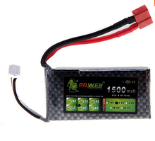Lion Power Lipo Battery 11.1V 1500Mah 40C MAX 60C T Plug for RC Car Airplane Helicopter Part