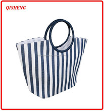 2015 Light Fashion round handle striped beach bag