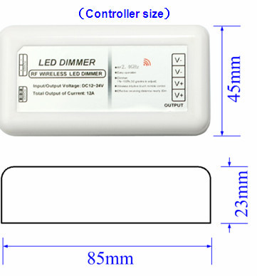 DC12V/24V Voltage and Manual Switch Type wireless RF 11 Keys led dimmer
