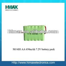 Ni mh rechargeable battery pack aaa 650mah 3.6v for rc toys
