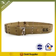 US Military Cotton Pistol Belt Metal buckle