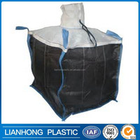 waterproof black big bag for cement,pp woven recycle jumbo bag