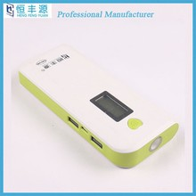 2015 factory wholesale10000mah LCD display mobile power bank for smartphone