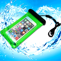 OEM cheap clear waterproof case for iphone 6 plus with neck cord