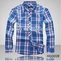 2015 alta calidad últimas estilo camisa a cuadros para el hombre