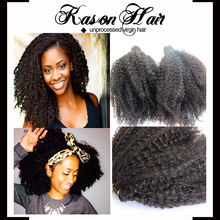 """World Best Selling In Stock 8""""-30"""" Afro Kinky Human Hair Extentions For Black Women"""