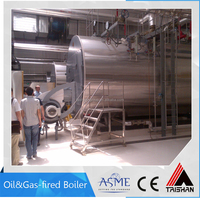 Oil/gas 8000kg/hr steam boiler for mixing plant industry