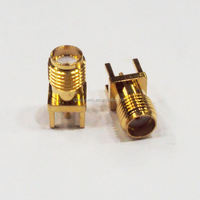 PCB Mount SMA Connector Jack Female 50 ohm UL CE ROHS sma male pcb mount rf coaxial connector SMA-KE