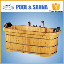 Wooden bathing barrels ,cedar wood spa tub,wooden barrel bathtub