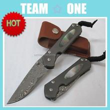 Custom Hand Made Beautiful Full Damascus Steel Folding Knife