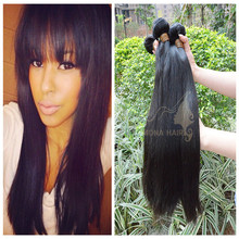 Super high quality glossy hair natural 100% unprocessed brazilian human weave hair