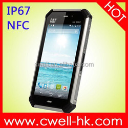 4.7 inch Gorilla Glass 3 touch screen Android 4.4 GPS/GLONASS NFC Cat S50 IP67 Waterproof 4G LTE best military grade cell phone