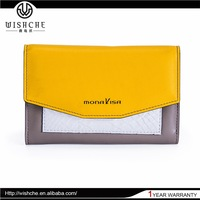 Wishche Wholesale OEM Factory Fashion Money Bags New Model Purses and Ladies Handbags Leather Wallet India Dropship Wallets W106