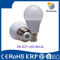 2015 BSCI New led product 270 degree cool white china 3w e27 led bulb