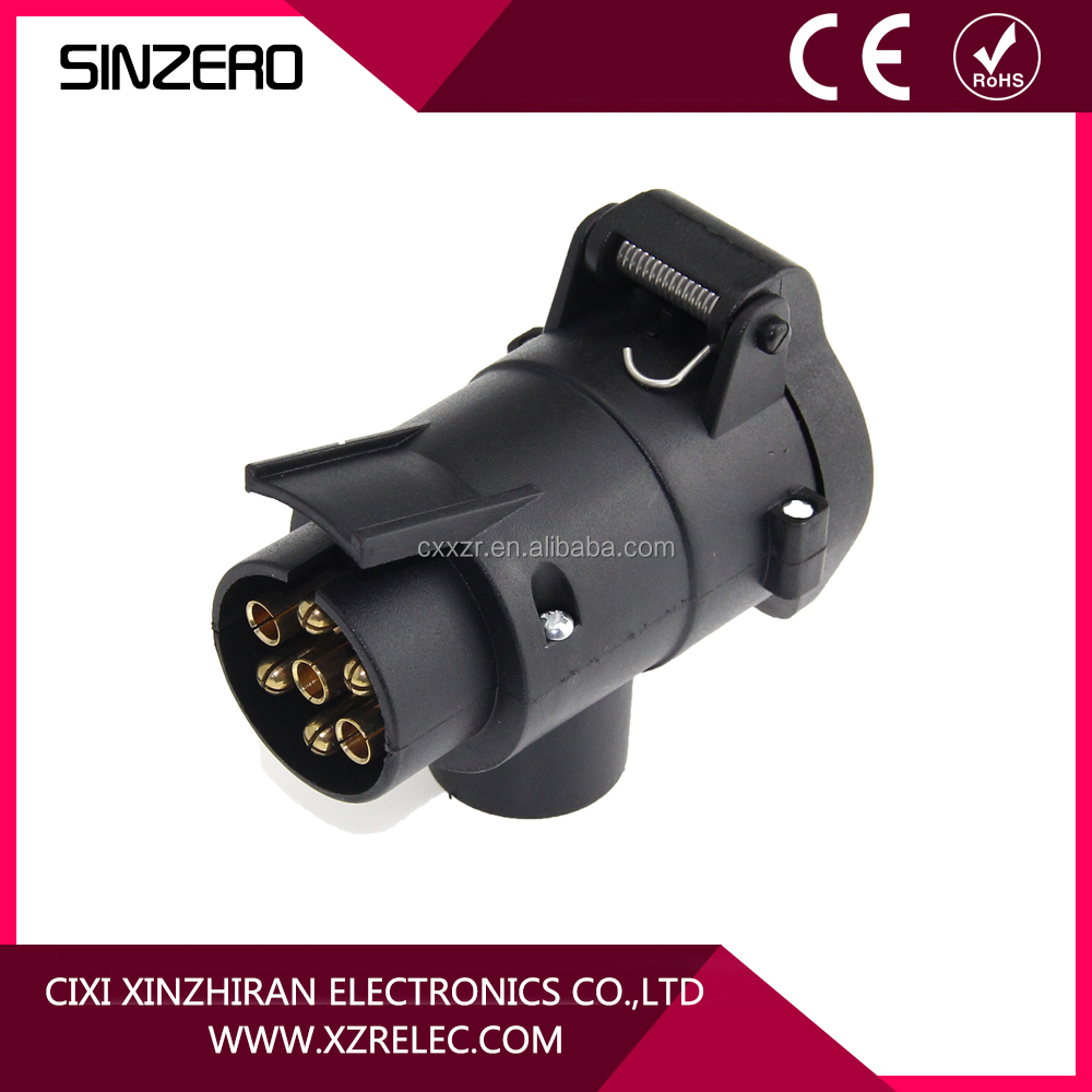 7 Pin Trailer Plug Adapter 4 To Wiring Diagram 13 Black Plastic Connector 12v Rh Alibaba Com Prong Way Round Truck Blade