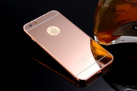 Luxury Bumper Mirror Back Shell Phone Case Cover For iPhone 6 6S Plus