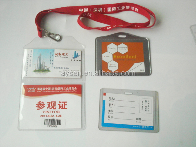 2014 atacado rígido plástico id titular do cartão