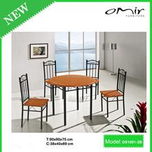 cherry color black frame high end furniture dining room sets DS1001-2B