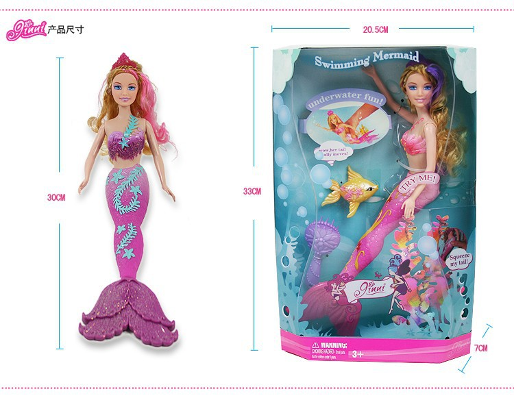 Christmas gift Genuine Original Mermaid Doll Toys For Girls Cheap Mermaid Doll Mermaid with Original Box,accessories for barbie