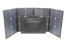 High quality 100 Watts folding solar panel with 5pcs 20Watts Sunpower parallel connection