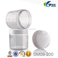 high quality plastic cap small empty bottle plastic jam jar