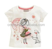 Z59431A Children top fashion t shirt stock on sale age 2-7 years,cartoon printed tshirt
