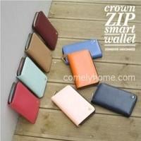 Phone case/Card bag/Long style crown zip smart wallet