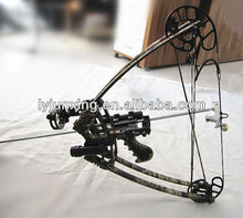 Triangle bow and arrow with bow sight, arrow rest,release aid and steam light
